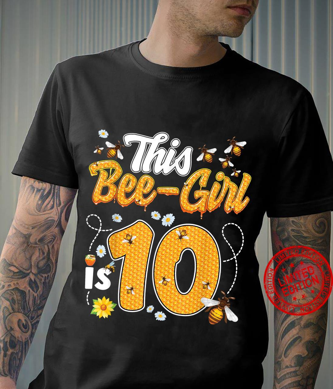 10th Birthday Girl Bee Theme 10 Years Old Matching Party Shirt