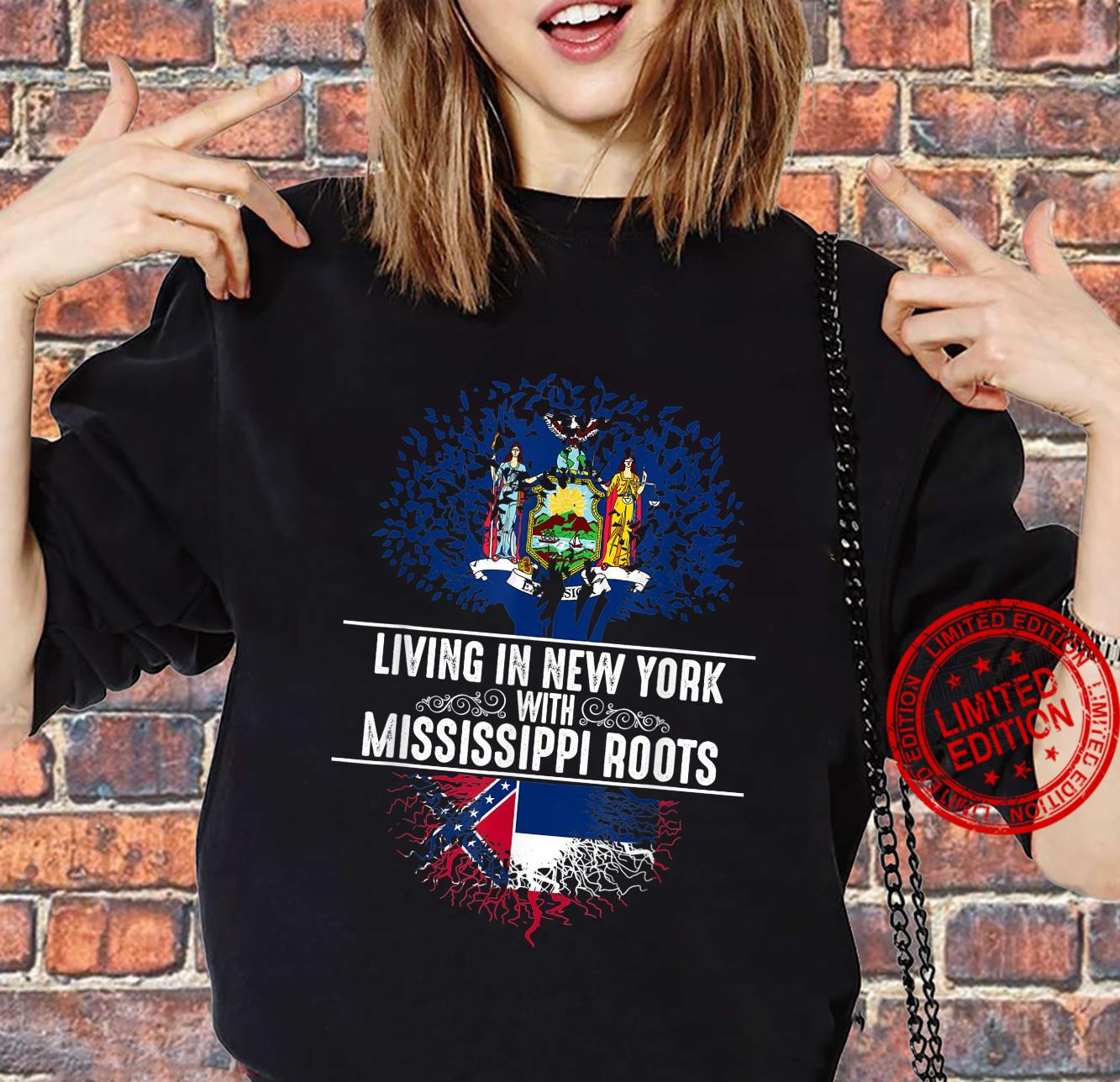 New York Home Mississippi Roots State Tree Flag Shirt sweater