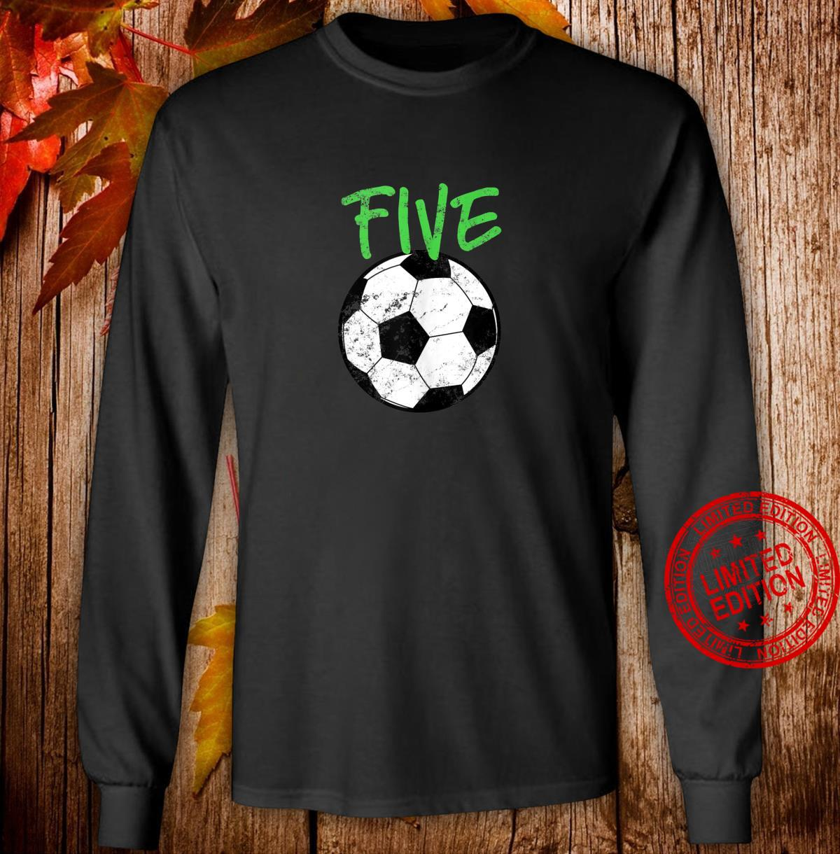 Soccer 5 Years Old Soccer Design Shirt long sleeved
