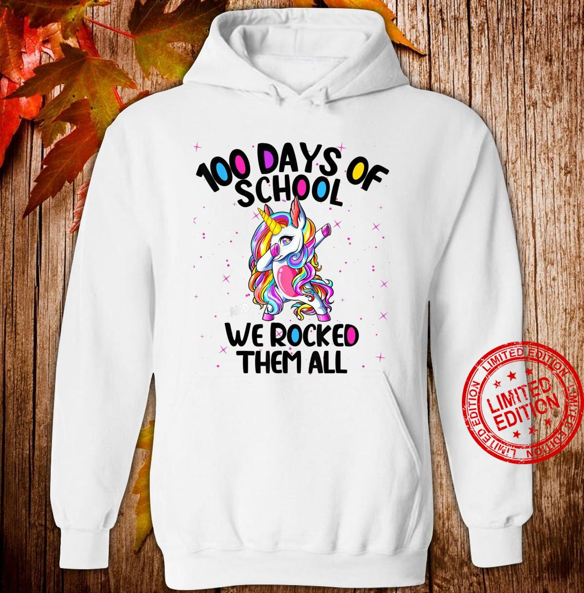 100 Days of School and We Rocked Them All Virtual Teacher Shirt hoodie