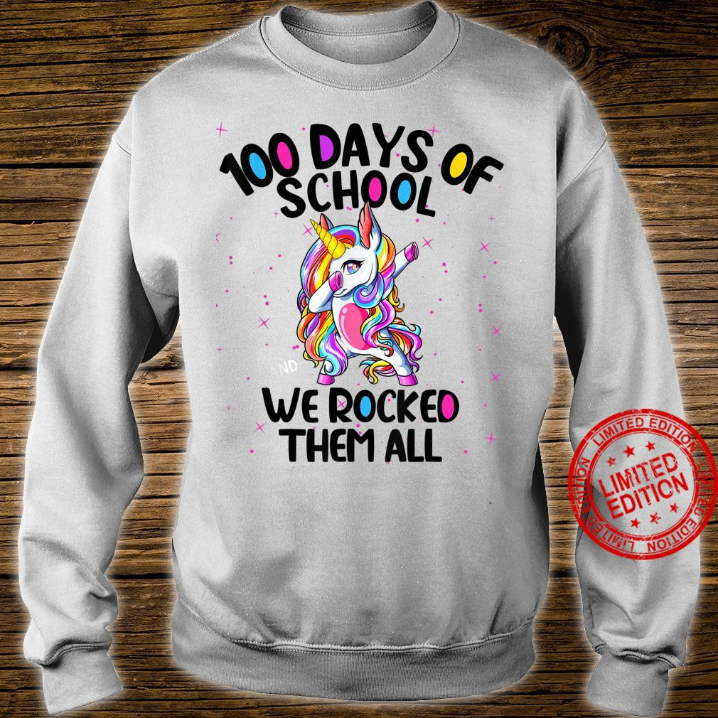 100 Days of School and We Rocked Them All Virtual Teacher Shirt sweater