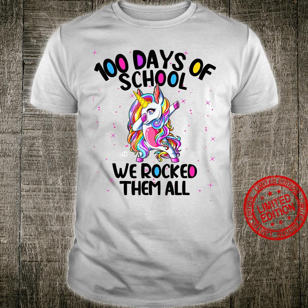 100 Days of School and We Rocked Them All Virtual Teacher Shirt