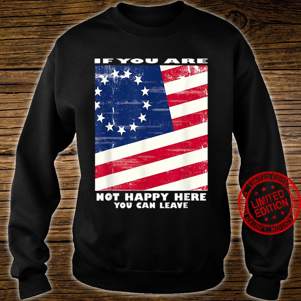 If you are not happy here you can leave shirt sweater